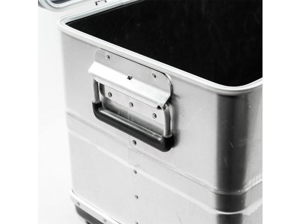صندوق ألمونيوم بمقبض بلاستيك