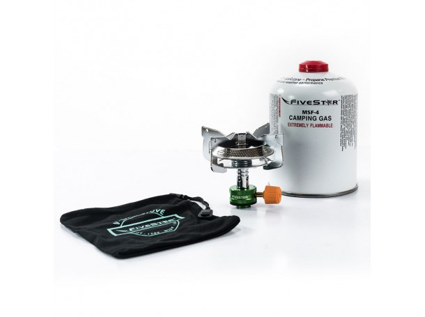 V Camp Stove with Gas 450G Kit