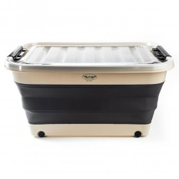Collapsible storage Box with lid and wheels