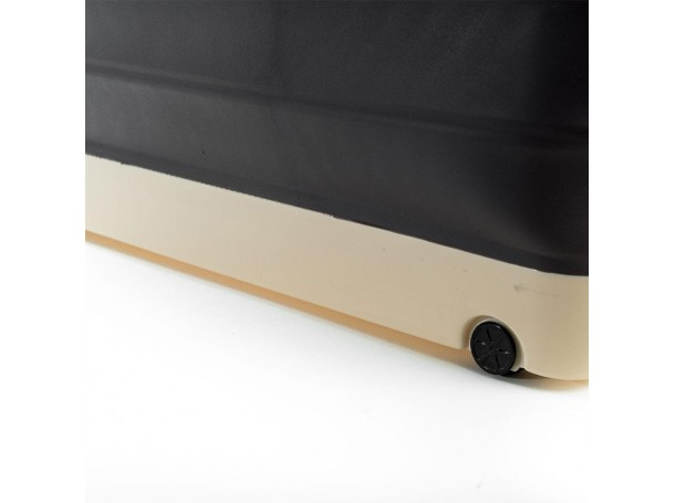 صندوق تخزين قابل للطي مع غطاء وعجلات