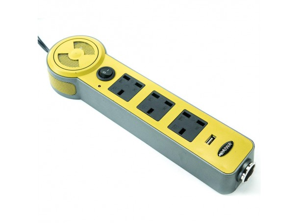 Extension Cord with 3 way out and one USB port