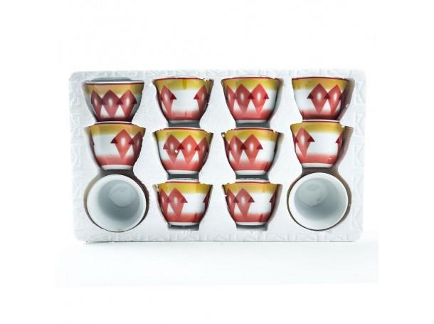 طقم فنجان للقهوة العربي من البورسلين
