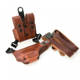 Leather Pistol Cover 9mm with  Magazine
