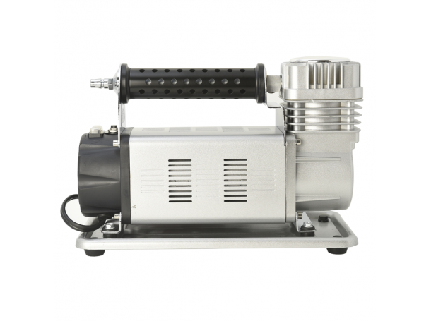 كمبريسور هواء للسيارات لون فضى يعمل على كهرباء 12 فولت - 45 أمبير