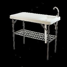 طاولة و مغسلة قابلة للطي للرحلات الخارجة والبرية
