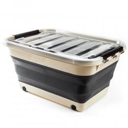 صندوق قابل للطى مع غطاء مزود بعجلات