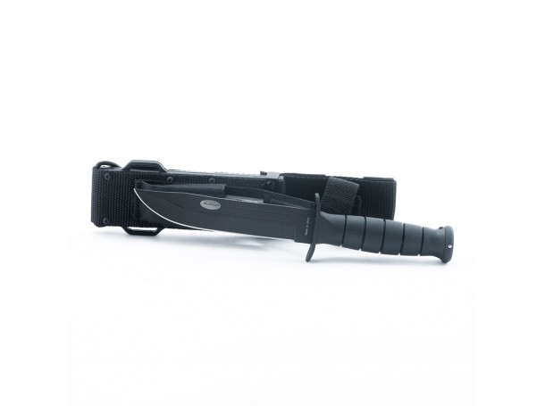 سكين الرماية للرحلات مع جراب لون أسود