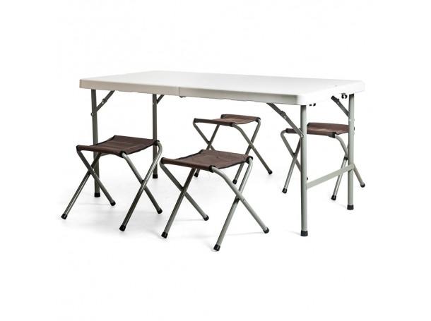 طاولة للنزهات مع اربع كراسي قابلة للطي