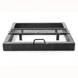 Fold-able brazier with move-able Grill Size 80 x 80 cm