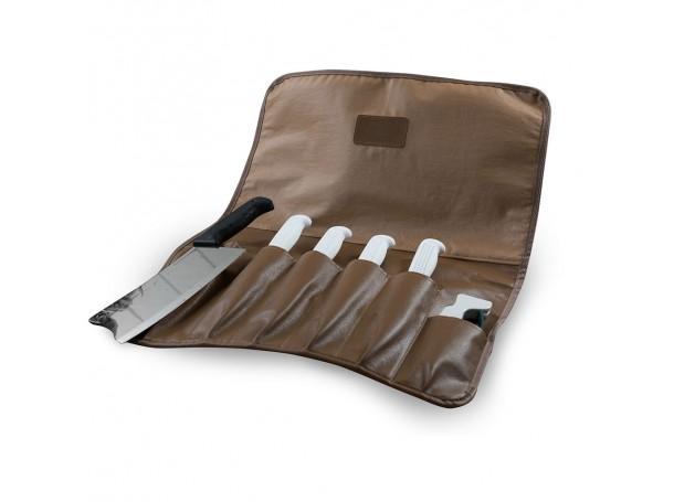 شنطة سكاكين من الجلد الفاخر