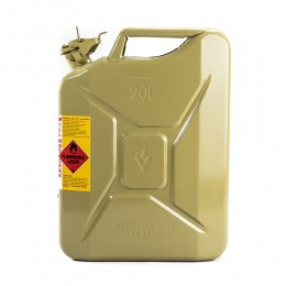 CAN FUEL DIESEL OLIVE YELLOW METAL 20L