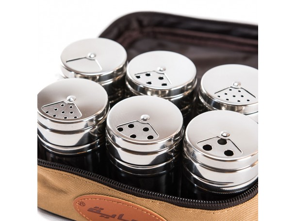 Spices Bag with 6 packs Steel