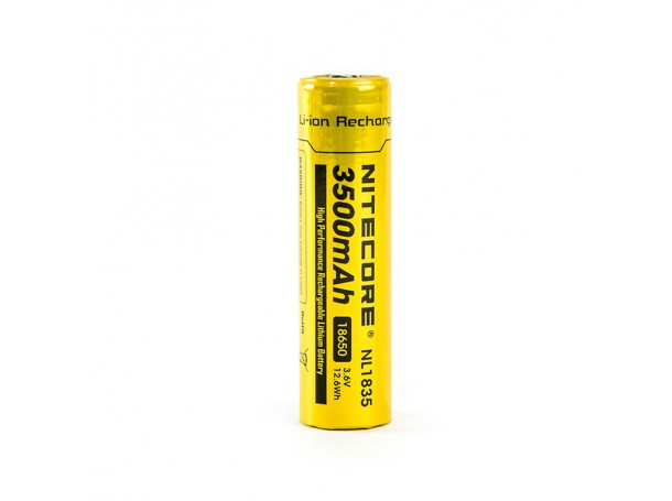 Nitecore NL1835 3500mAh 18650 High Capacity Protected Rechargable Battery