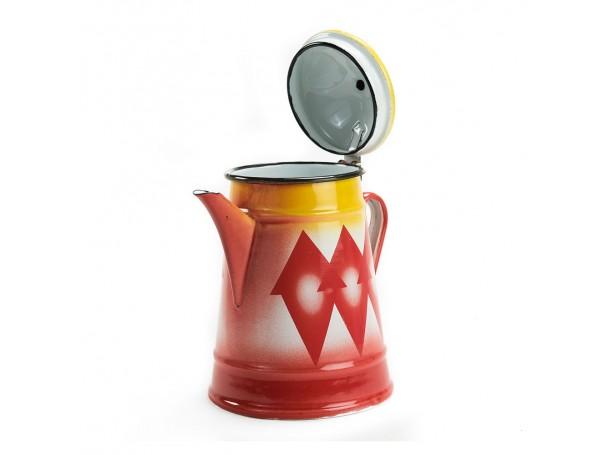 دلة حليب غضار احمر سعة 1.2 لتر من الرماية