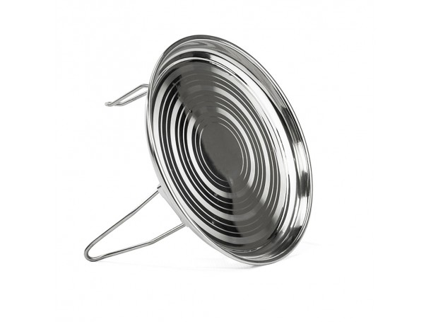 Alrimaya Round plate stainless steel with folding legs