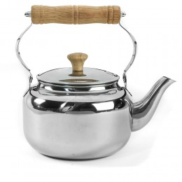 Stainless Steel Kettle  wooden  Handle  1 liter