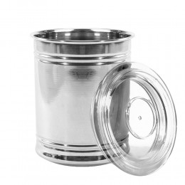 Alrimaya Container steel with plastic Lid 1000 ML