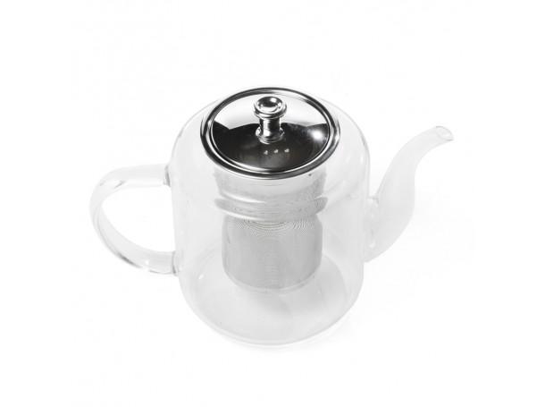 ابريق شاي زجاجي مع شخال 1.5 لتر