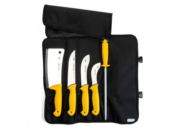 طقم سكاكين الاضاحي من  أركوس 18-16-10سم مع مسن وساطور