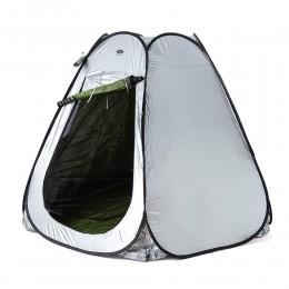 خيمة الشاطيء بطلاء فضي