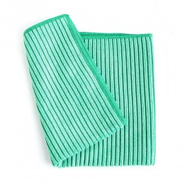 قماش تنظيف اخضر مايكرو فايبر