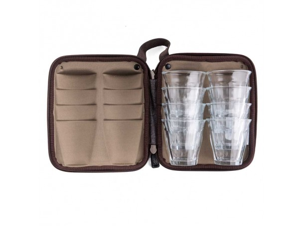 حقيبة كاسات زجاجية  -8 كاسات