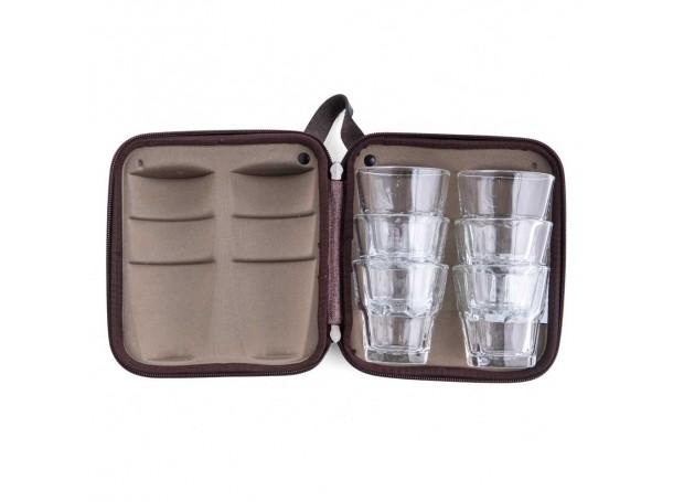 حقيبة كاسات زجاجية  -6 كاسات