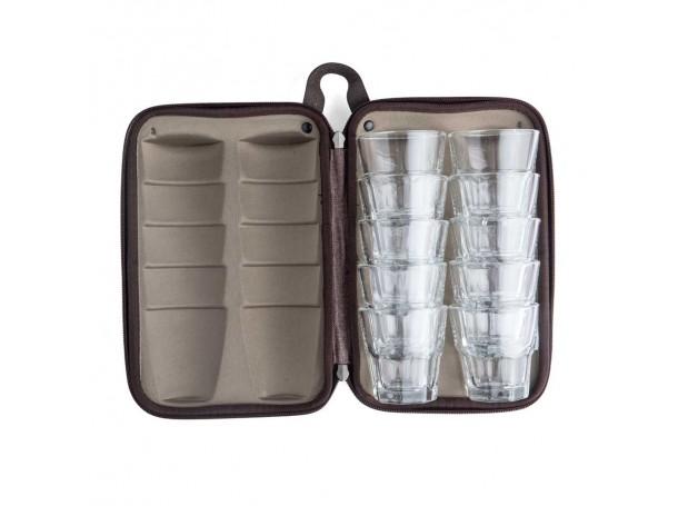 حقيبة كاسات زجاجية  -10 كاسات