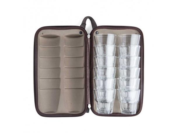 حقيبة كاسات زجاجية  -12 كاسات