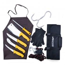 طقم سكاكين اركوس للذبح  5 قطع مع شنطة
